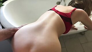 Girl shows her massive boobs and fucks her boss - Brazzers porno