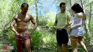 Hot milf sucks cock and fucks hotmate - Brazzers porno