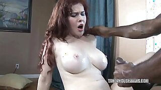 Busty housewife becomes horny and deepthroats huge black dick - Brazzers porno