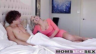 Threesome caught on video with cute blonde - Brazzers porno