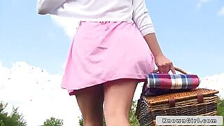 British couple suck outdoors from behind with totally wild filmed - Brazzers porno