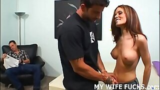 Hot redhead lesbian with nice ass bounces on cock - Brazzers porno