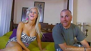 Blonde german babe riding - Brazzers porno