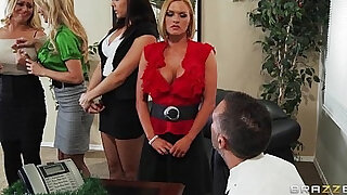 Business meeting turns into some hardcore bang in office play - Brazzers porno