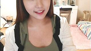 Pretty korean girl recording on camera - Brazzers porno