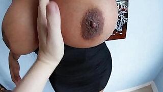 Big tittied slut oils up - Brazzers porno