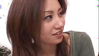 Nana Nanami gets two cocks in mouth and hairy cunt and cum after - Brazzers porno