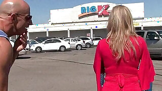 Total: 5962 -  Busty blonde amateur milf Savannah Jane gets picked up from the mall for a fuck fest