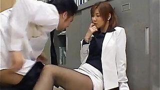 Misaki Inaba kissed on nylon - Brazzers porno