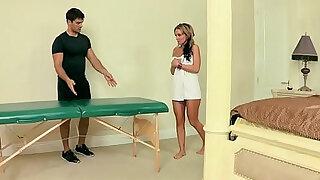 Dirty Masseur Give My Girl Massage scene starring Nikki Sexx Ramon - Brazzers porno