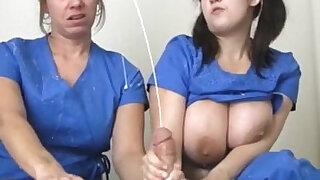 Nurses Extract A Huge facial Cumshot - Brazzers porno