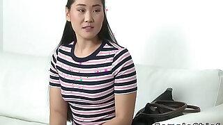 Asian model fingers lesbian female agent - Brazzers porno