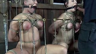 Tiedup subs punished with toys - Brazzers porno