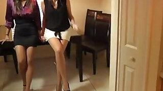 girls giving footjob - Brazzers porno