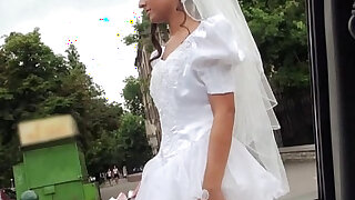 Sexy bride Amirah gets banged by a big cock stranger - Brazzers porno