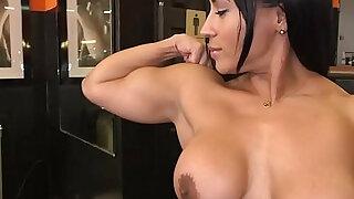 Tight Body Builder Becca Diamond Gets team Fucked in Gym - Brazzers porno