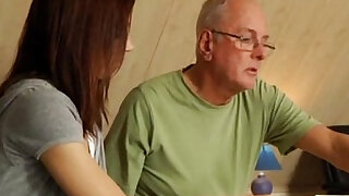 Helping an old man with a puzzle - Brazzers porno