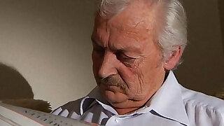 Adorable Iwia fucking grandpa - Brazzers porno