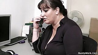 My BBW colleague gives perfect blowjob in the office video - Brazzers porno