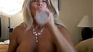 Hot male fucks mature blonde Lily Vaughn in the woods - Brazzers porno