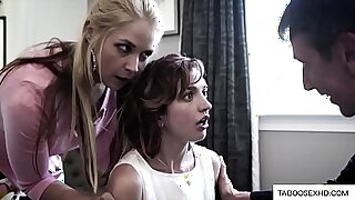 Worker fucks step daughter that is forced to do gang - Brazzers porno