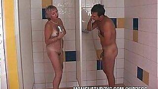 Horny Slut In a Negro Shower - Brazzers porno
